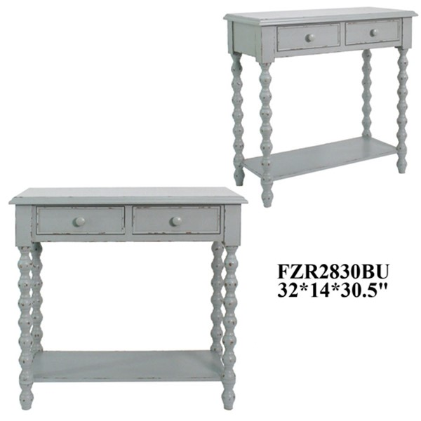 Crestview Collection Wooden 2 Drawers Console Table CRST-FZR2830BUSNG