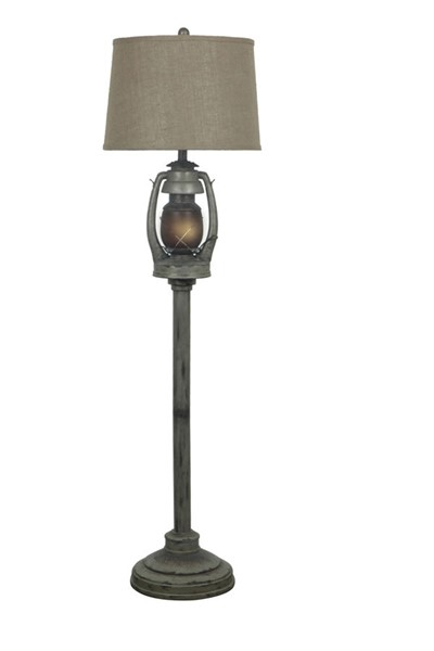 Crestview Collection Oil Lantern Antique Floor Lamp CRST-CIAUP527