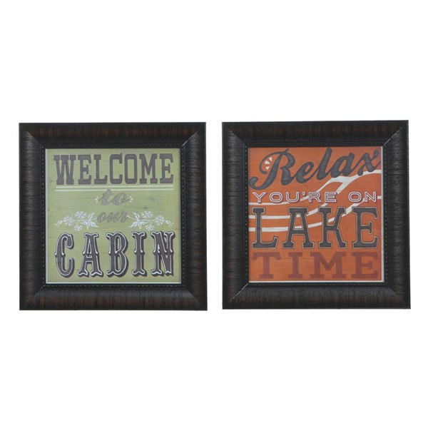 Crestview Collection Cabin Life 1 and 8 Wall Art CRST-CVA3568