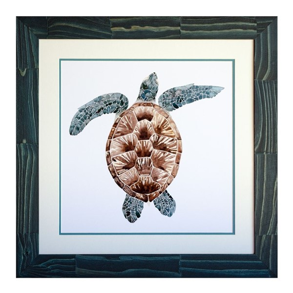 Crestview Collection Mosaic Turtle 2 Wall Art CRST-CVA3806