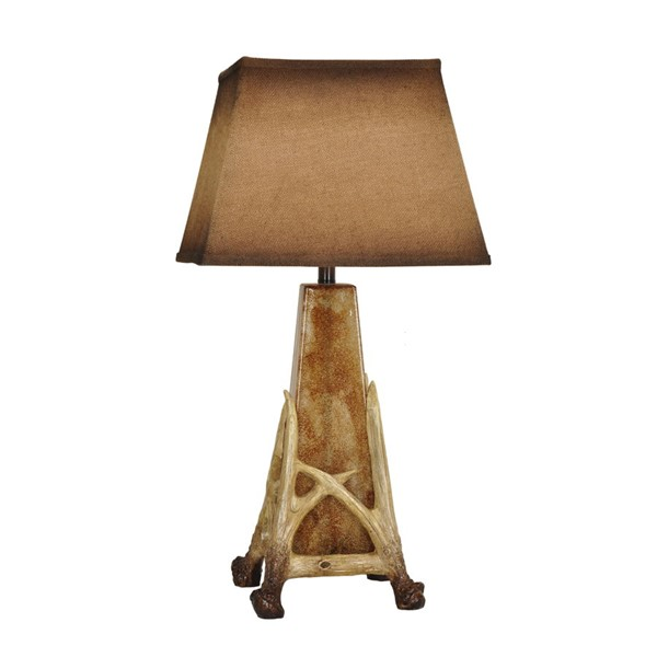 Crestview Collection Antler Cage Antique Burlap Table Lamp CRST-CVABS1050