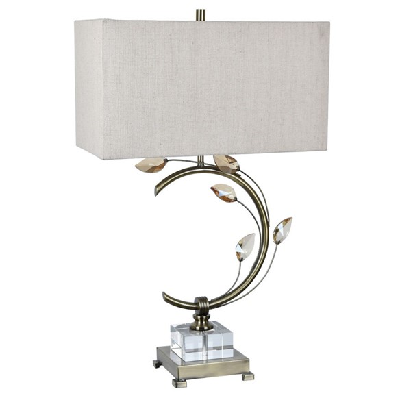2 Crestview Collection Laura Natural Table Lamps CRST-CVABS1248