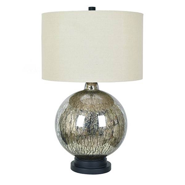 Crestview Collection Dawkins Antique Mercury Natural Table Lamp CRST-CVABS1355