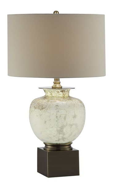 Crestview Collection Selborne Golden Opal White Table Lamp CRST-CVABS1372