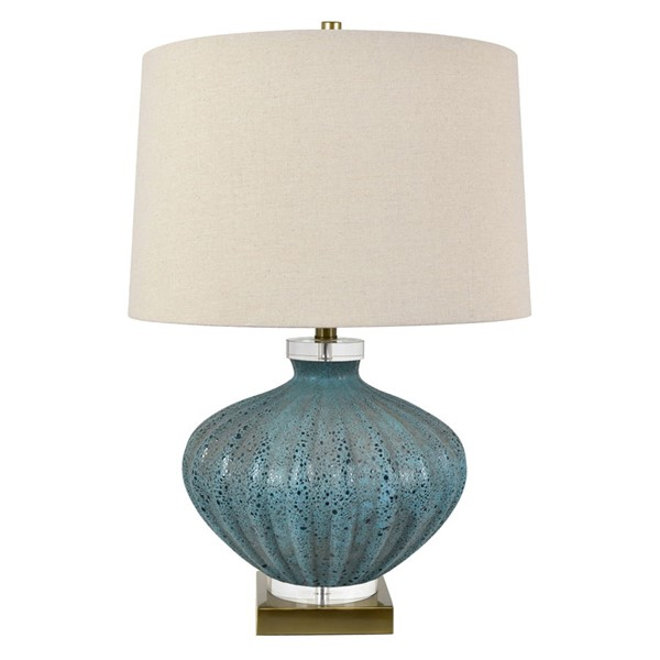 Crestview Collection Reeves Turquoise Volcanic Natural Table Lamp CRST-CVABS1480