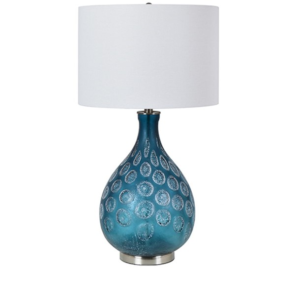 Crestview Collection Pearson Blue White Table Lamp CRST-CVABS1630