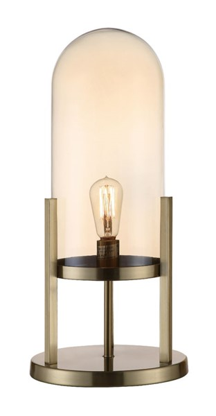 Crestview Collection Malouf Done Amber Pearl Large Lamp CRST-CVABS1645