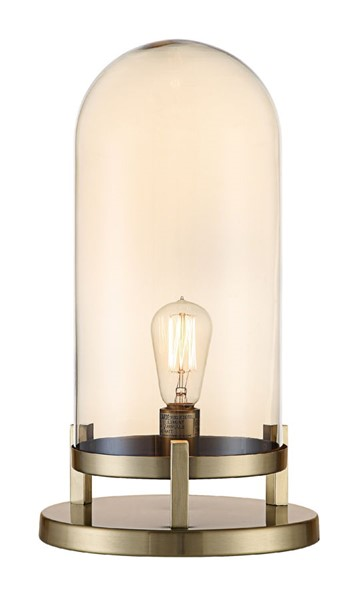 Crestview Collection Amber Pearl Medium Malouf Done Lamp CRST-CVABS1646