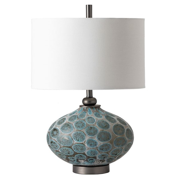 Crestview Collection Simons Blue Brown White Table Lamp with Night Light CRST-CVABS1902