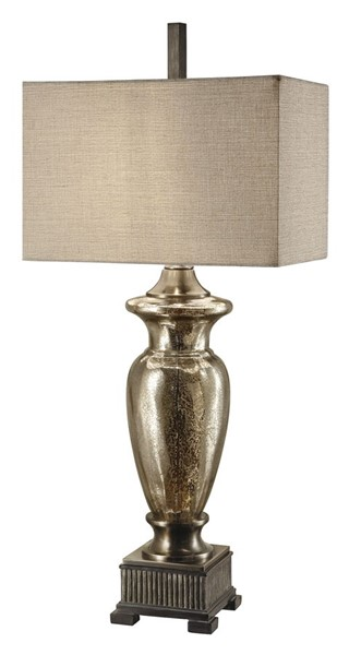Crestview Collection Silver Antique Mercury Glass Table Lamp CRST-CVABS561