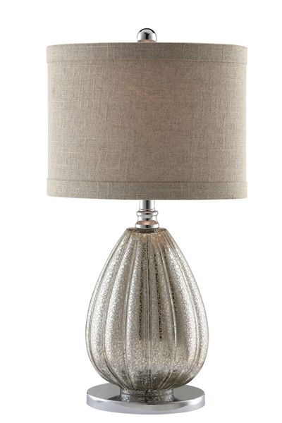 2 Crestview Collection Stardust Champagne Mercury Table Lamps CRST-CVABS672