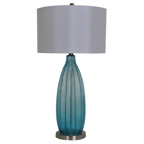 Crestview Collection Blue White Table Lamp CRST-CVABS758