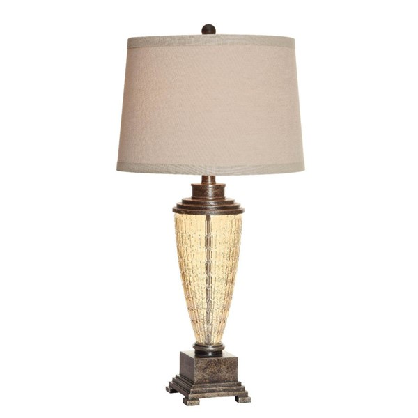 Crestview Collection Laurel Champagne Table Lamp CRST-CVABS941SNG
