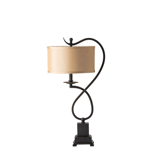 2 Crestview Collection Echo Bronze Beige Table Lamps CRST-CVACR160