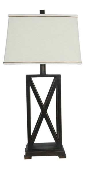 Crestview Collection Everson Bronze Natural Table Lamp CRST-CVACR603