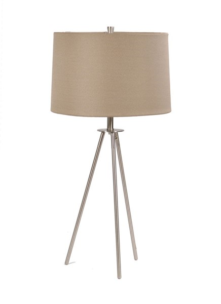 Crestview Collection Sabra Brushed Champagne Table Lamp CRST-CVACR770