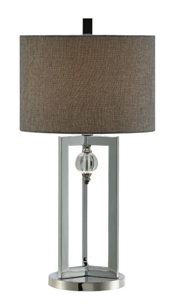 2 Crestview Collection Johanson Chrome Charcole Table Lamps CRST-CVAER1017