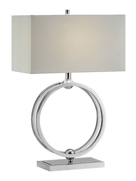 Crestview Collection Neveu Chrome White Table Lamp CRST-CVAER1038