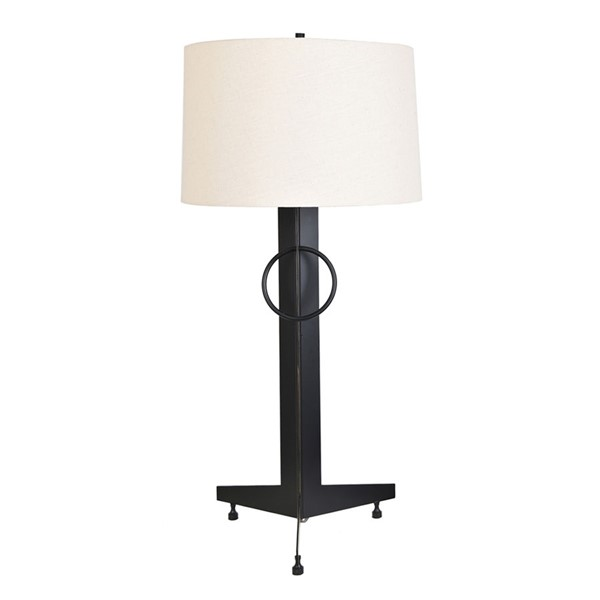 2 Crestview Collection Windermere Black Natural Table Lamps CRST-CVAER1043