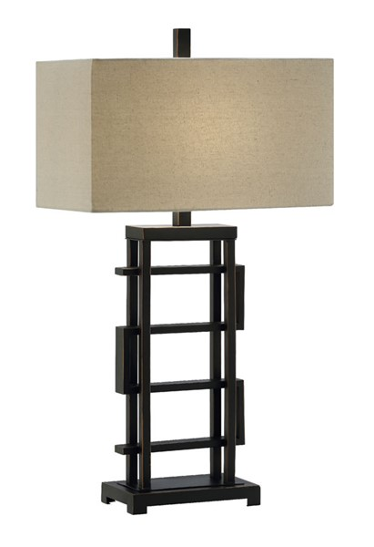 2 Crestview Collection Foxwall Bronze Oatmeal Table Lamps CRST-CVAER1076