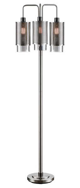 Crestview Collection Brushed Black Smoked Glass Floor Lamp CRST-CVAER1234