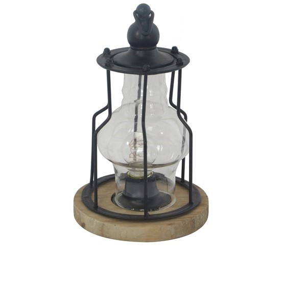 Crestview Collection Wood Base Table Lamp 1 CRST-CVAER1400