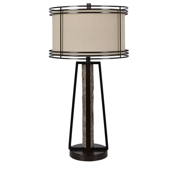 Crestview Collection Shawnee Bronze Oatmeal Table Lamp CRST-CVAER1486