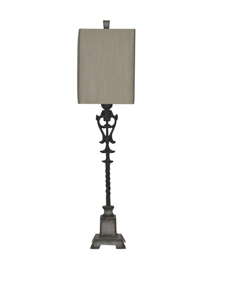 Crestview Collection Belle Metal Large Buffet Lamp CRST-CVAER223