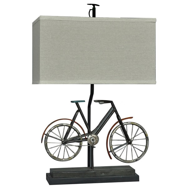 2 Crestview Collection Biking Natural Table Lamps CRST-CVAER460