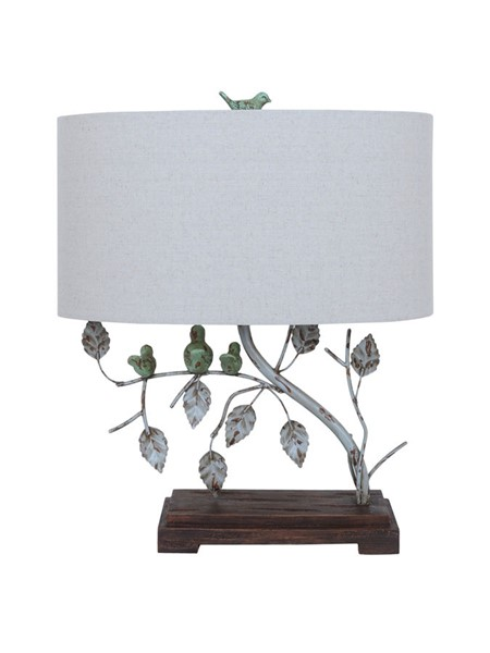 Crestview Collection Ella Antique Blue Green Table Lamp CRST-CVAER568