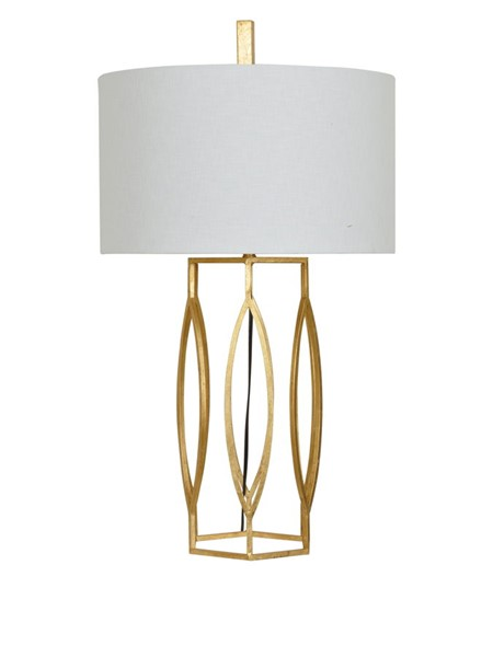 Crestview Collection Global Gold Leaf Table Lamp CRST-CVAER762