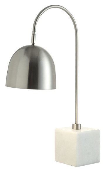 Crestview Collection Z Bar Brushed White Task Lamp CRST-CVAER871