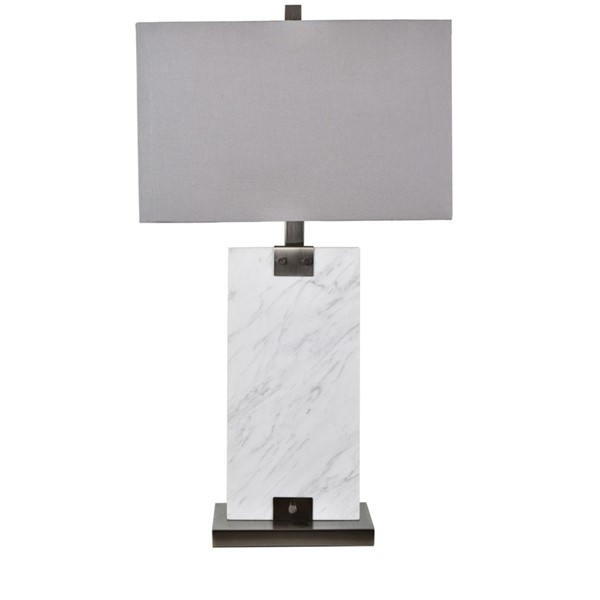 Crestview Collection Towers White Grey Table Lamp CRST-CVAMB0004