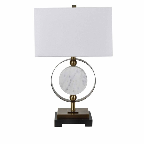 Crestview Collection Circles Black White Table Lamp CRST-CVAMB0006