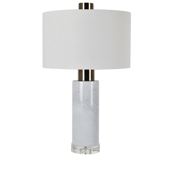 Crestview Collection Holder Black White Table Lamp CRST-CVAMB0014B