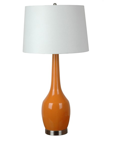 2 Crestview Collection Nina Tangerine White Ceramic Table Lamps CRST-CVAP1344A