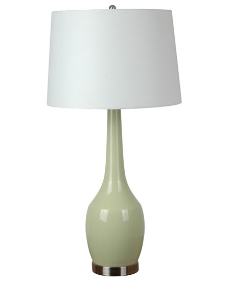 2 Crestview Collection Cabot Green White Table Lamps CRST-CVAP1344B