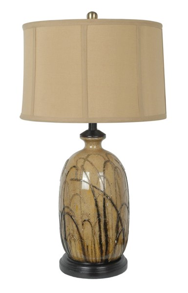 2 Crestview Collection Nigel Toffee Black Table Lamps CRST-CVAP1353