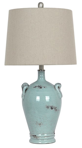 2 Crestview Collection Casa Sea Blue Table Lamps CRST-CVAP1426