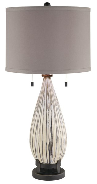 Crestview Collection Mason White Black Brown Table Lamp CRST-CVAP1549