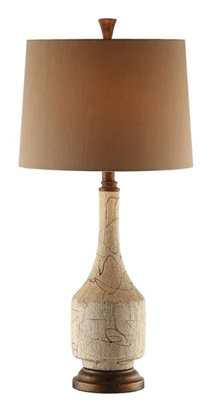 2 Crestview Collection Cressida Cremdelux Brown Table Lamps CRST-CVAP1738