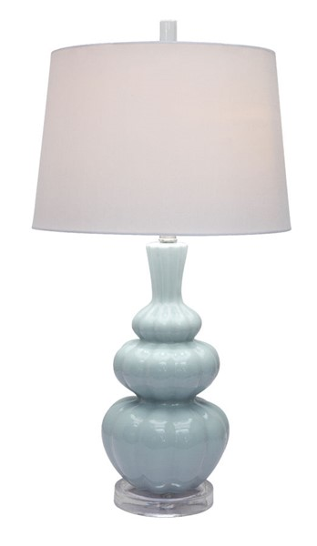2 Crestview Collection Strata Light Blue White Table Lamps CRST-CVAP1809