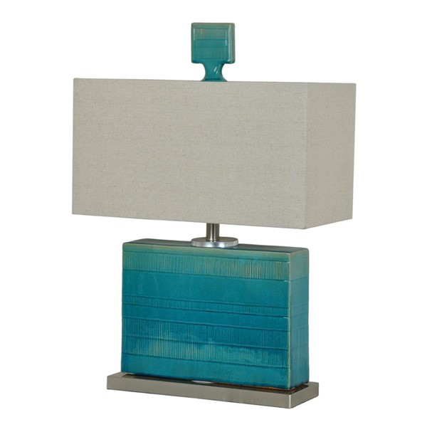 Crestview Collection Glade Turquoise Natural Table Lamp CRST-CVAP1843