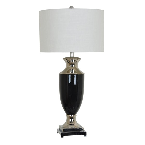 Crestview Collection Phelps Black White Table Lamp CRST-CVAP1874SNG