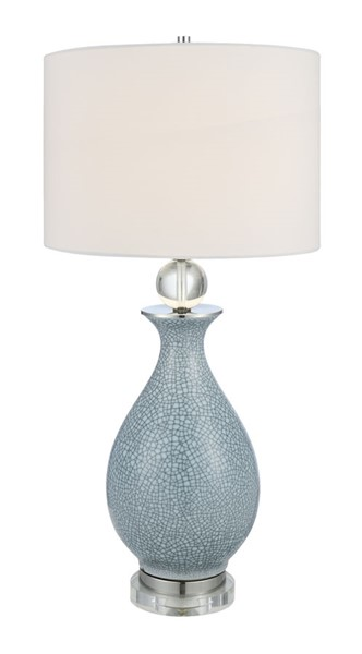 Crestview Collection Jarvis Blue Crackle White Table Lamp CRST-CVAP2012