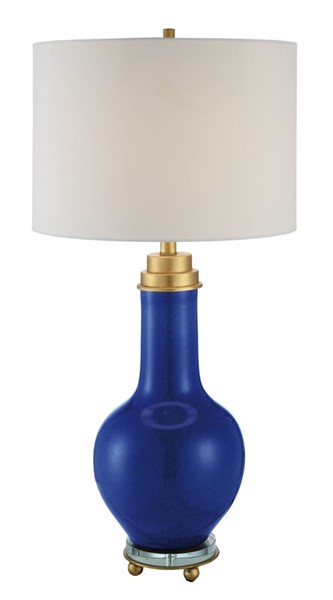 Crestview Collection Penta Blue Gold White Metal Table Lamp CRST-CVAP2026
