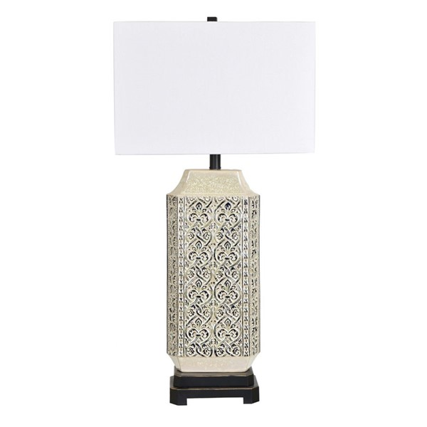 Crestview Collection Hanna Antique Black White Table Lamp CRST-CVAP2096