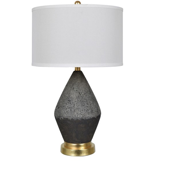 Crestview Collection Tange Black White Table Lamp CRST-CVAP2270