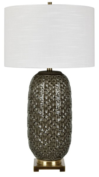 Crestview Collection Korbel Champagne Grey Gold Table Lamp CRST-CVAP2306