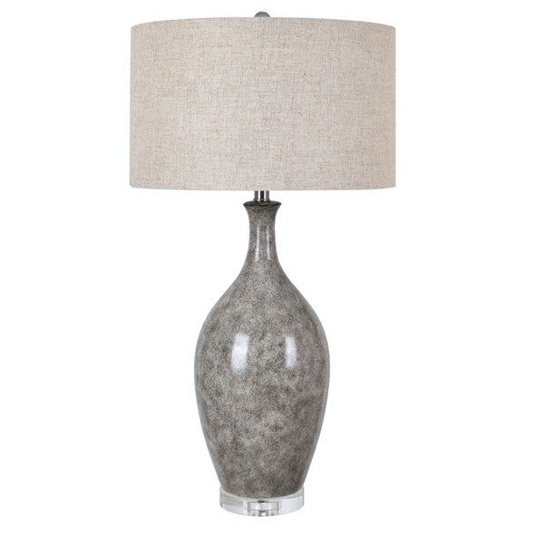 Crestview Collection Silverton Silver Grey Natural Table Lamp CRST-CVAP2407